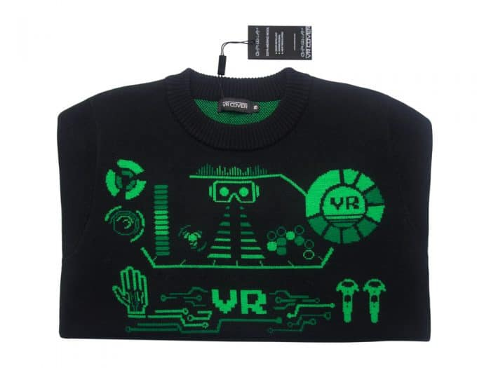 VR Retro Sweater close up