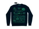 Retro VR Sweatshirt 100% Merino Wool