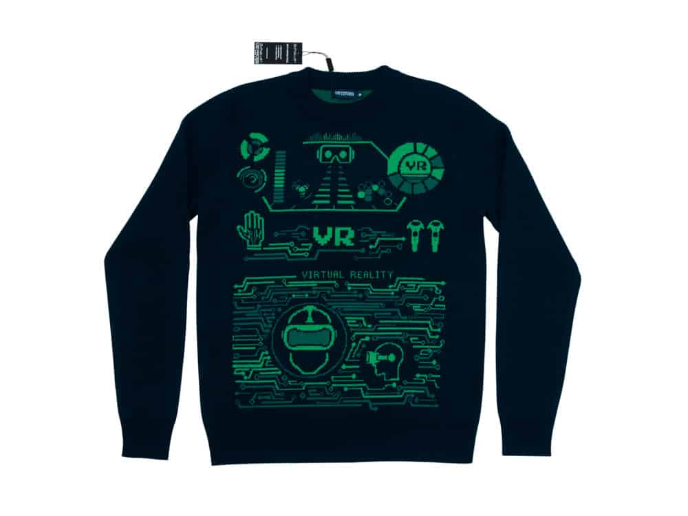 virtual reality themed merino sweatshirt