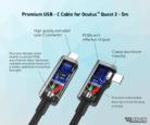 VR Cover Premium USB-C Cable for Oculus Quest 2